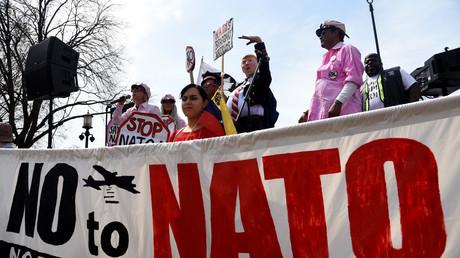 Manifestation contre l'OTAN à Washington, le 30 mars 2019.