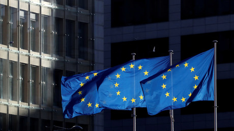 Le drapeau européen à Bruxelles le 12 décembre 2019.