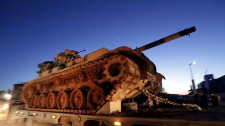 Un char d'assaut turc dans la province d'Idleb, le 9 février (image d'illustration).