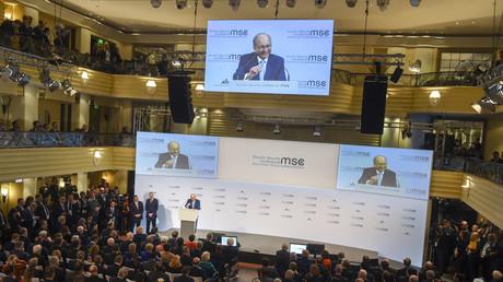 Vue générale de la Conférence de Munich sur la sécurité (MSC) à Munich (Bavière), le 14 février 2020.