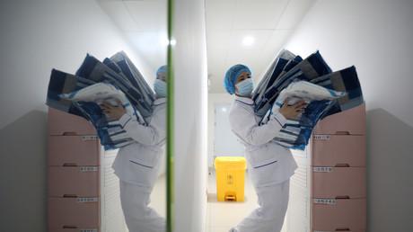 Hôpital Jinyintan à Wuhan, l'épicentre de la nouvelle épidémie de coronavirus, dans la province du Hubei (Chine), le 13 février 2020 (image d'illustration).