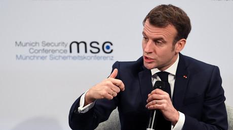 Emmanuel Macron à la Conférence sur la sécurité de Munich, le 15 février 2020.