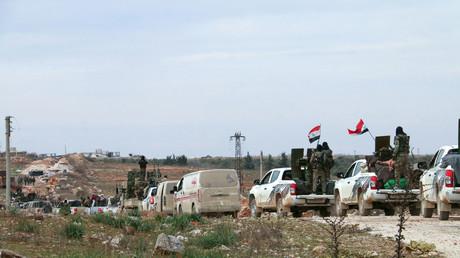 L'armée syrienne à l'ouest d'Alep, le 16 février.