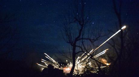 Combats dans la région de Lougansk, le 30 janvier 2020 (image d'illustration).