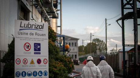 L'usine Lubrizol à Le Petit-Quevilly, près de Rouen.