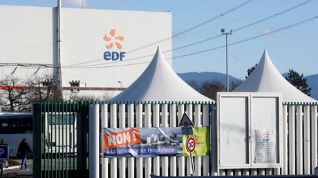 L'entrée de la centrale nucléaire de Fessenheim, le 20février 2020.