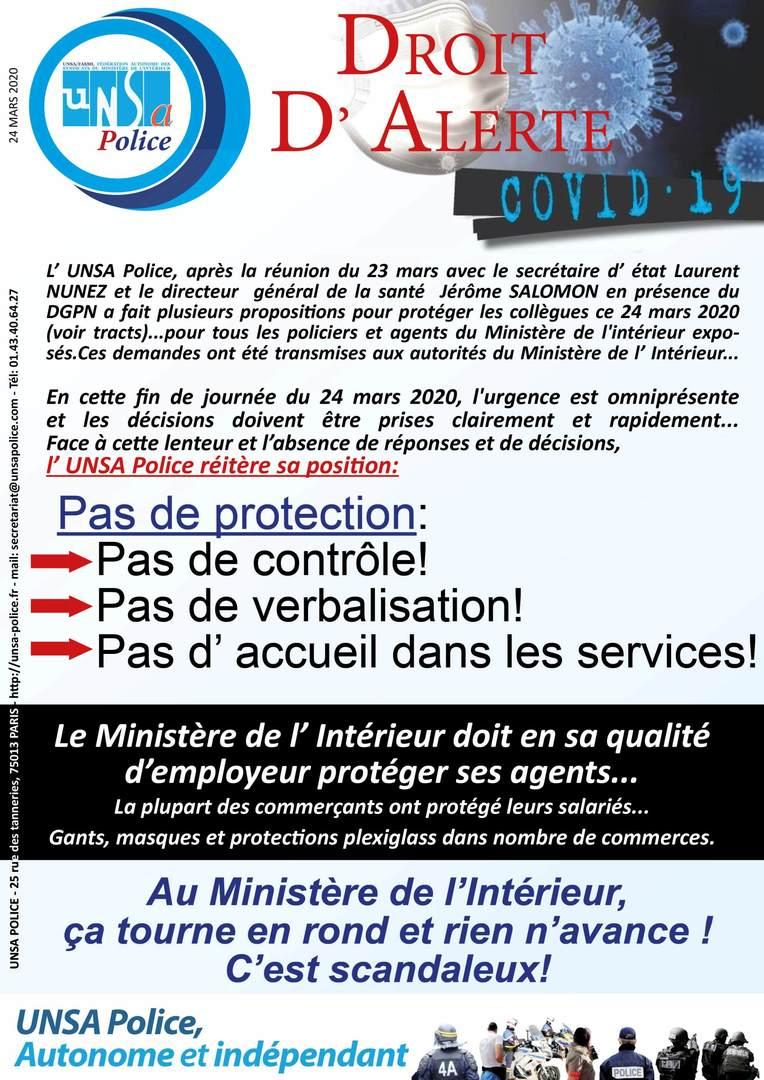 «Pas de protection : pas de contrôle, pas de verbalisation», Unsa-Police sort le grand jeu