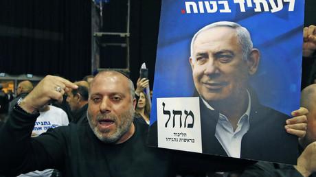 Supporter du Likoud le 2 mars à Tel-Aviv.