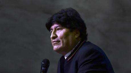 L'ancien président de la Bolivie, Evo Morales, s'exprime lors d'une conférence de presse à Buenos Aires, le 21 février 2020.