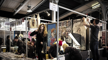 La salon du tatouage à Paris à la Grand Halle de la Villette de Paris en mars 2018 (image d'illustration).