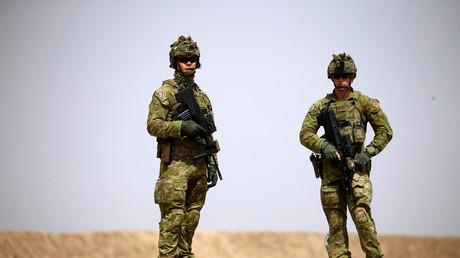 Des membres de la coalition sur la base militaire de Taji, en Irak (image d'illustration).