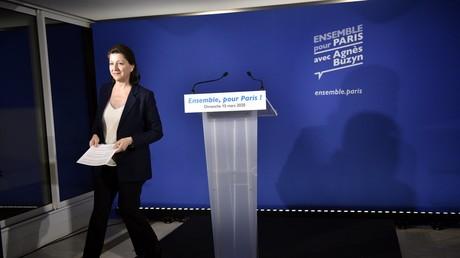 Agnes Buzyn, candidate LREM à Paris, après avoir prononcé un discours à son siège de campagne, le 15 mars 2020 (image d'illustration).