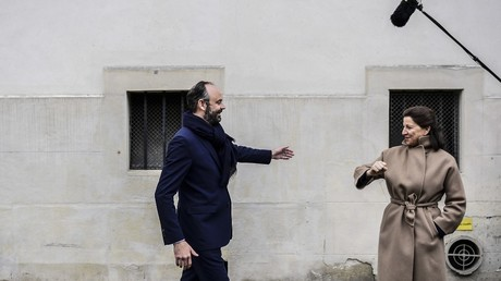 Agnès Buzyn et Edouard Philippe, le 10 mars 2020, à Paris (image d'illustration).