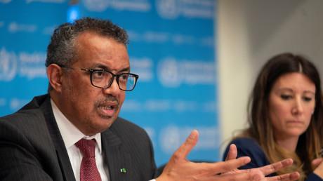 Tedros Adhanom Ghebreyesus, lors d'une conférence de presse, le 16 mars à Genève (image d'illustration).