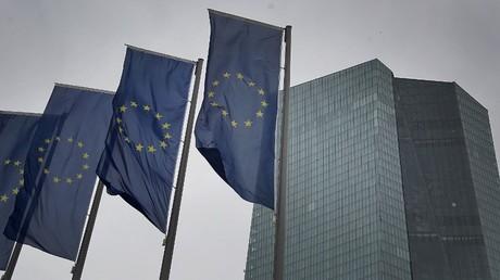 Le siège de la Banque centrale européenne, le 12 mars 2020, à Francfort-sur-le-Main, en Allemagne (image d'illustration).