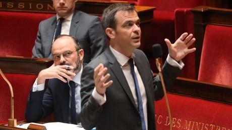 Olivier Véran, à l'Assemblée nationale, le 19 mars 2020, à Paris (image d'illustration).
