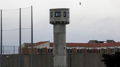 Photographie prise le 17 mars 2020, montrant la tour de guet de la prison de Perpignan (image d'illustration).