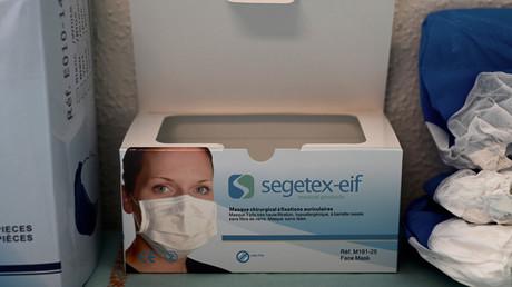 Un boîte de masques de protection (image d'illustration).