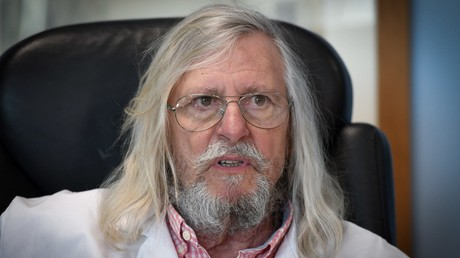 Didier Raoult, biologiste et professeur de microbiologie, spécialisé dans les maladies infectieuses et directeur de l'IHU Mediterranee Infection à Marseille, le 26 février 2020 (image d'illustration).