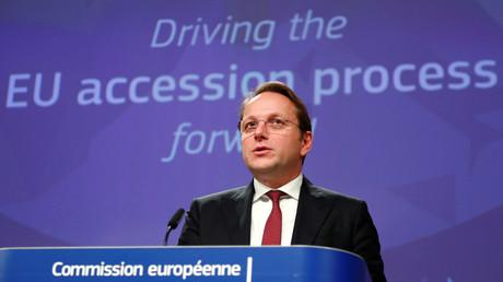 Le commissaire européen à l'Elargissement, Oliver Varhelyi à Bruxelles le 5 février 2020 (image d'illustration).