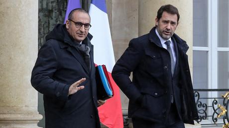 Laurent Nunez et Christophe Castaner, le duo de Beauvau, le 26 février 2020 à la sortie du conseil des ministres à l'Elysée (image d'illustration).