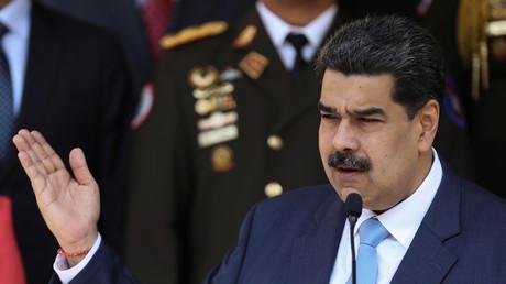 Le président vénézuélien Nicolas Maduro prend la parole lors d'une conférence de presse au Palais Miraflores à Caracas, Venezuela, le 12 mars 2020. (Image d'illustration)