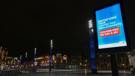 Place de la Comédie, à Montpellier, dans le sud de la France, le 23 mars 2020.