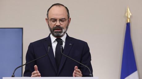 Edouard Philippe en conférence de presse, le 28 mars 2020.