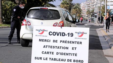 Opération de contrôle le 29 mars 2020 à Nice, Promenade des Anglais (image d'illustration).