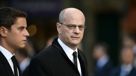 Jean-Michel Blanquer, ministre de l'Education nationale (à droite) (image d'illustration)