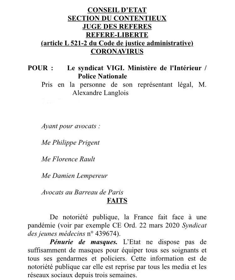 «Mise en danger de la vie d'autrui»: le syndicat VIGI attaque Philippe, Castaner et Nunez à la CJR