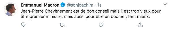 Le député ex-LREM Joachim Son-Forget usurpe l'identité d'Emmanuel Macron sur Twitter