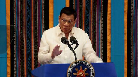Le président philippin Rodrigo Duterte lors de son quatrième discours sur l'état de la nation au Congrès des Philippines à Quezon City, dans le Grand Manille, aux Philippines, le 22 juillet 2019 (image d'illustration).