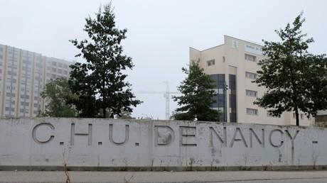 Cette photographie prise le 14 septembre 2018 montre le Centre universitaire de santé - Hôpitaux de Brabois à Vandoeuvre-lès-Nancy, dans l'est de la France (image d'illustration).