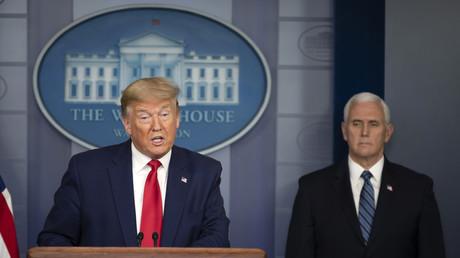 Le président américain Donald Trump et son vice-président Mike Pence, le 3 avril 2020, à la Maison Blanche à Washington (image d'illustration).