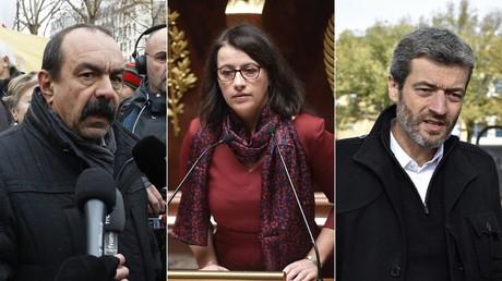 Philippe Martinez, Cécile Duflot et Jean-François Julliard (montage d'illustration)