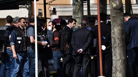 Le ministre de l'Intérieur Christophe Castaner à Romans-sur-Isère le 4 avril.