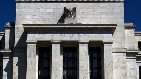 Photographie d'archive prise le 2 avril 2020, montrant le bâtiment de la Réserve fédérale à Washington DC, aux Etats-Unis (image d'illustration).