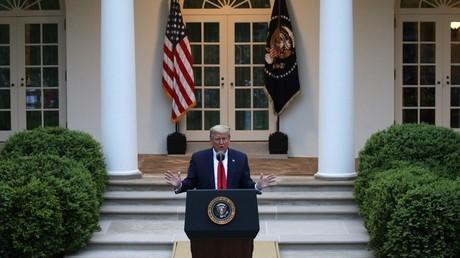 Donald Trump le 14 avril à la Maison Blanche.