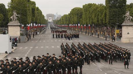 Défilé du 14 juillet 2019 sur les Champs Elysées à Paris.