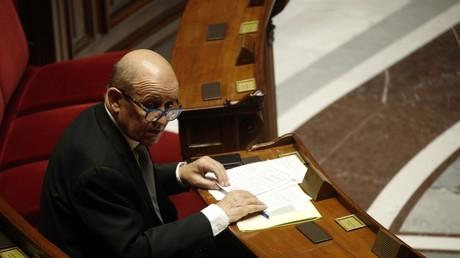 Le chef de la diplomatie française Jean-Yves Le Drian, le 31 mars à l'Assemblée nationale (image d'illustration).