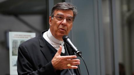 L'archevêque Michel Aupetit en conférence de presse le 15 juin 2019 à Paris (image d'illustration).