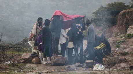 Des migrants sur l'île de Lesbos en Grèce (image d'illustration.)