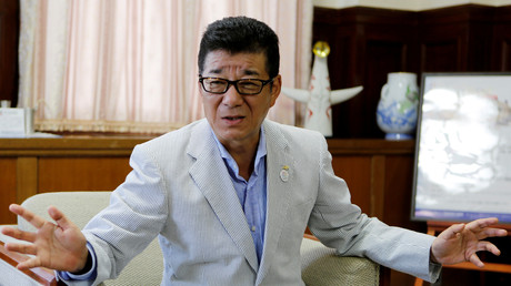 La maire d'Osaka, Ichiro Matsui, en interview à Osaka, Japon, 2018 (image d'illustration).