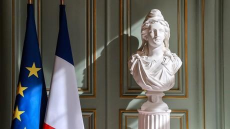 Cliché pris à l'entrée du ministère de l'Intérieur, le 13 mars 2020, à Paris (image d'illustration).