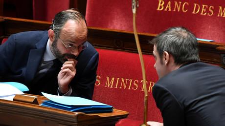 Edouard Philippe et le ministre de la Santé Olivier Véran, à l'Assemblée nationale le 7 avril 2020 (image d'illustration).