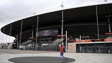 Un cliché pris devant le Stade de France, le 14 mars 2020, à Saint-Denis (Seine-Saint-Denis) (image d'illustration).
