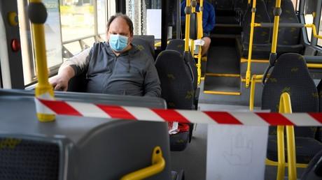 Un bus à Hasselt en Belgique.