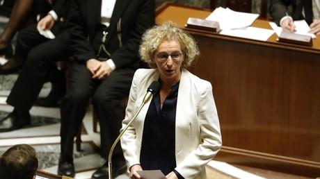 La ministre du Travail Muriel Pénicaud le 4 février 2020 lors des questions au gouvernement à Paris.