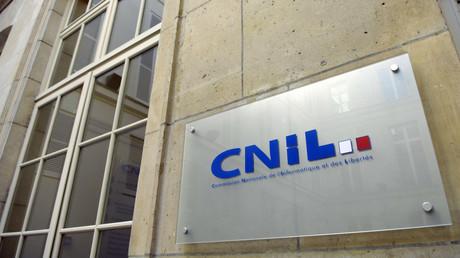 Photo prise le 3 février 2007 du logo de la Commission nationale de l'informatique et des libertés (Cnil) à Paris (image d'illustration).